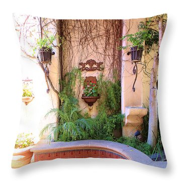 Charming Santa Barbara Corner Throw Pillow