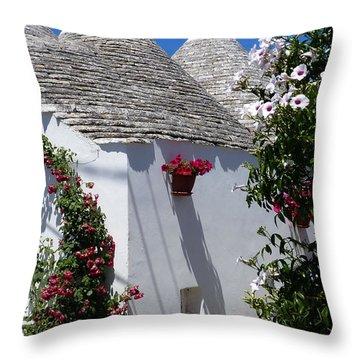 Charming Trulli Throw Pillow