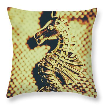 Charming Vintage Seahorse Throw Pillow