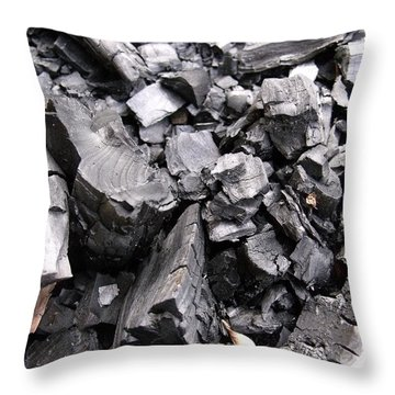 Charred Throw Pillow by Anna Villarreal Garbis
