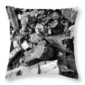 Charred II Throw Pillow by Anna Villarreal Garbis