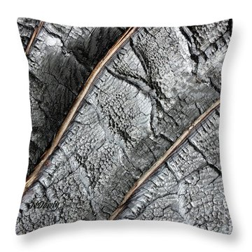 Charred Pine Bark Throw Pillow