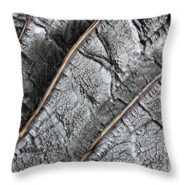 Charred Pine Bark Throw Pillow