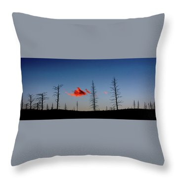 Charred Sunset Throw Pillow