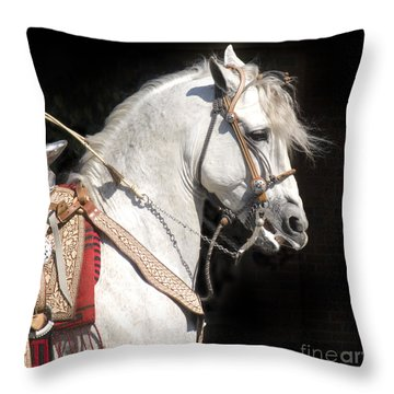 Charro Stallion Throw Pillow by Jim And Emily Bush