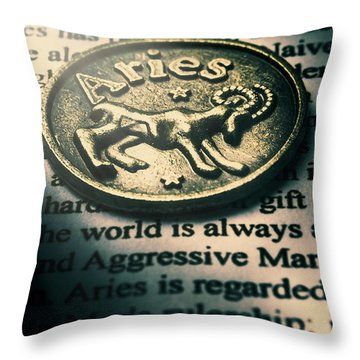 Charting In Aries Throw Pillow