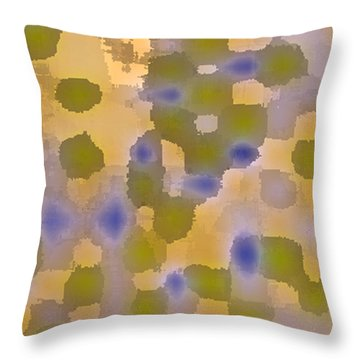 Chartreuse Two  By Rjfxx. Original Abstract Art Painting. Throw Pillow