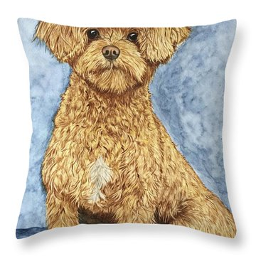 Chase The Maltipoo Throw Pillow