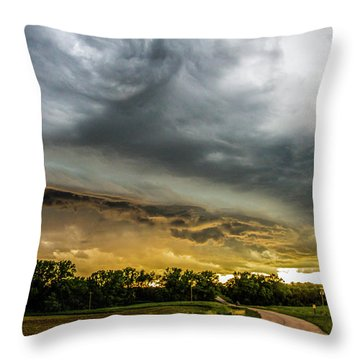 Chasing Nebraska Stormscapes 074 Throw Pillow