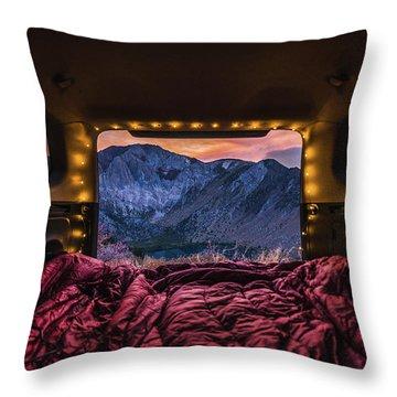 Chasing Sunset Throw Pillow by Alpha Wanderlust