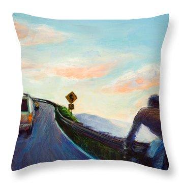 Chasing Sunset Throw Pillow