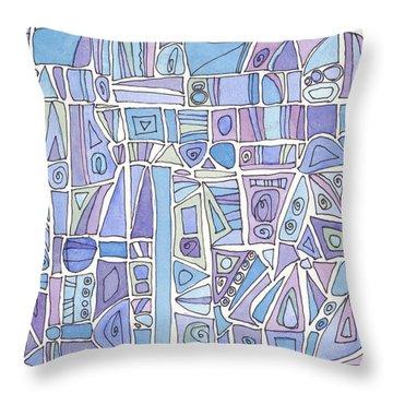 Chasing The Blues Throw Pillow by Linda Kay Thomas