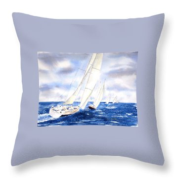 Chasing The Fleet Throw Pillow