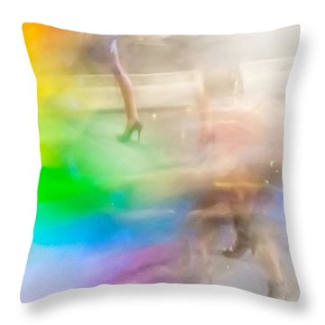 Chasing The Rainbow Throw Pillow
