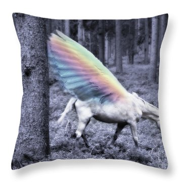 Chasing The Unicorn Throw Pillow