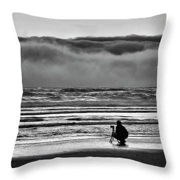 Chasing Tide And Light Throw Pillow