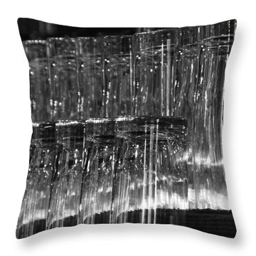 Chasing Waterfalls - Bw Throw Pillow