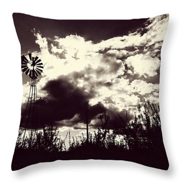 Chasing Windmills Throw Pillow