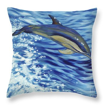 Chasing You Throw Pillow by Danielle  Perry