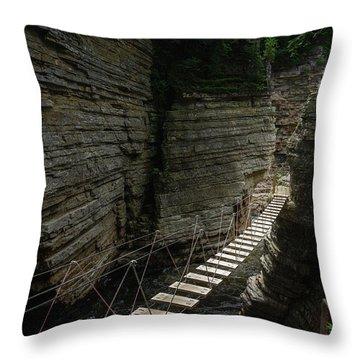 Chasm Bridge Throw Pillow
