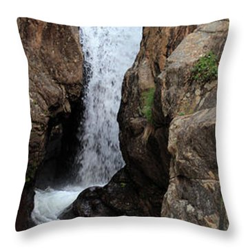Throw Pillow featuring the photograph Chasm Falls 2 - Panorama by Shane Bechler