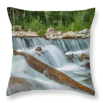 Chasm Falls Throw Pillow