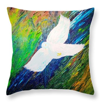Throw Pillow featuring the painting Chaste by Piety Dsilva