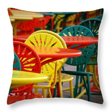 Chat Room Throw Pillow by Linda Mishler