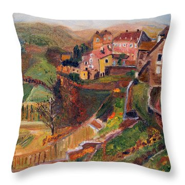 Chateau Chalon Throw Pillow