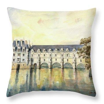 Chateau De Chenonceau Throw Pillow