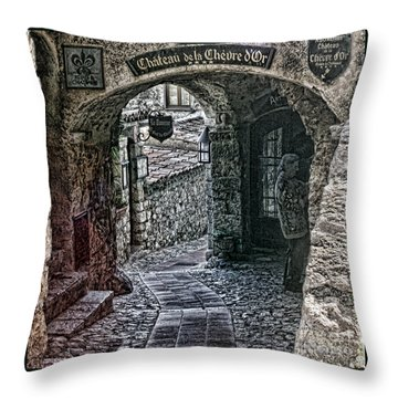 Chateau De La Chevre D'or Throw Pillow