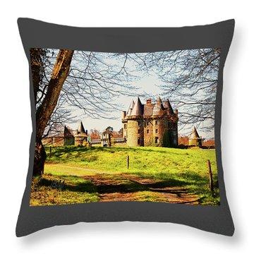 Chateau De Landale Throw Pillow