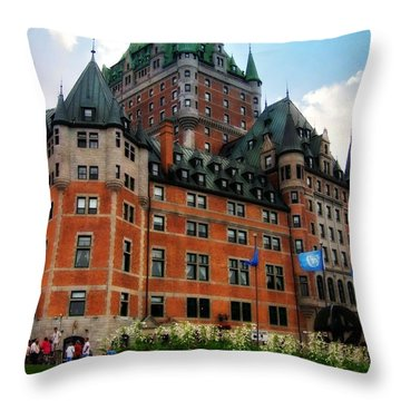 Chateau Frontenac Throw Pillow