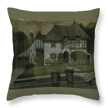 Chateau In The City Throw Pillow