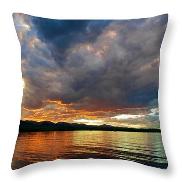 Chatfield Technicolor Sunset Throw Pillow