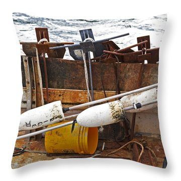 Throw Pillow featuring the photograph Chatham Fishing by Charles Harden
