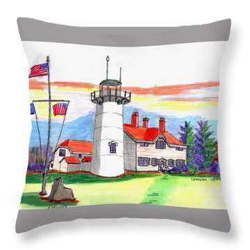Chatham Lighthouse Throw Pillow