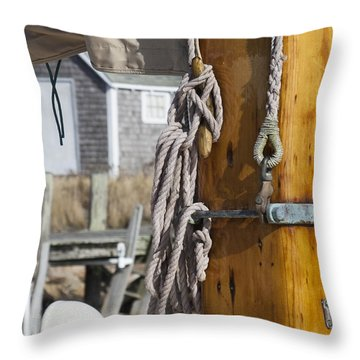 Throw Pillow featuring the photograph Chatham Old Salt by Charles Harden