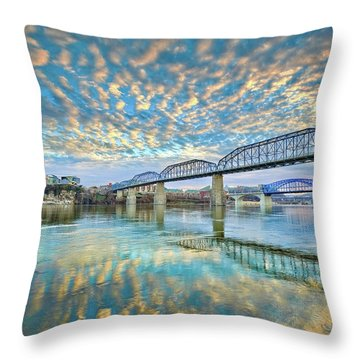 Chattanooga Has Crazy Clouds Throw Pillow by Steven Llorca