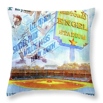 Chattanooga Historic Baseball Poster Throw Pillow by Steven Llorca