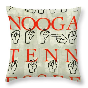 Chattanooga Sign Throw Pillow