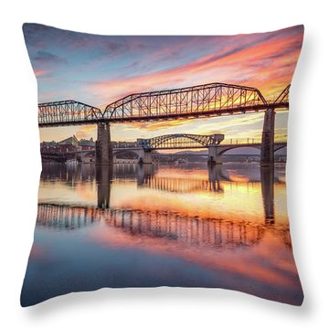 Chattanooga Sunset 5 Throw Pillow