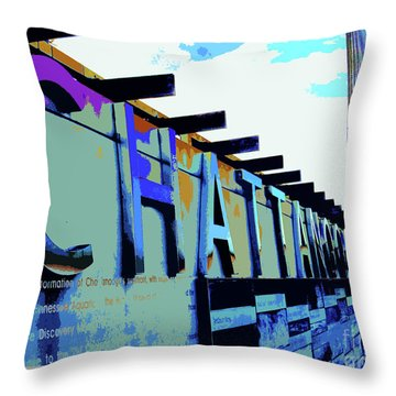 Chattanooga Tennessee Sign Throw Pillow