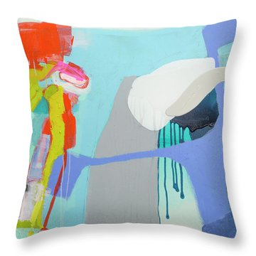 Chatting With The Mirror Throw Pillow