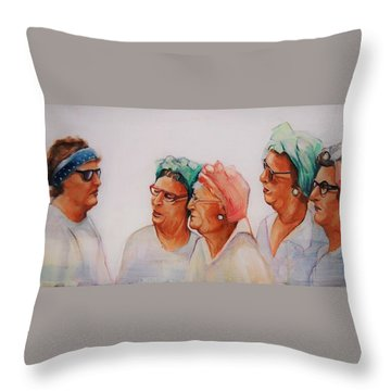 Paradise Trailer Park Welcoming Committee Throw Pillow