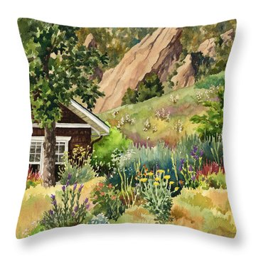 Chautauqua Cottage Throw Pillow by Anne Gifford