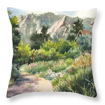 Chautauqua Morning Throw Pillow by Anne Gifford
