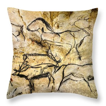Chauvet Deer Throw Pillow