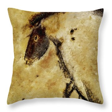 Chauvet Horse Throw Pillow