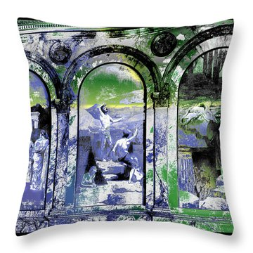 Throw Pillow featuring the photograph Chavannes Astronomy Philosophy by Robert G Kernodle